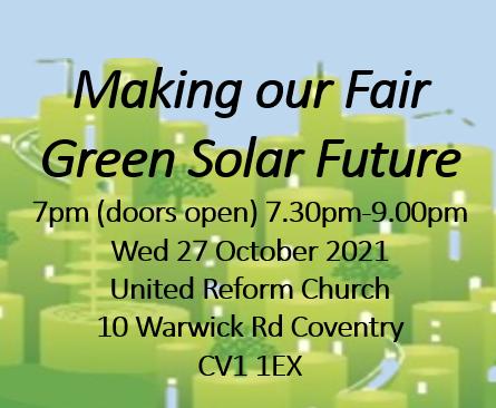 Making our Fair Green Solar Future